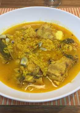 Sopa de arroz del mar