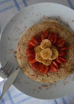 Maxi tortita de avena con fruta y canela