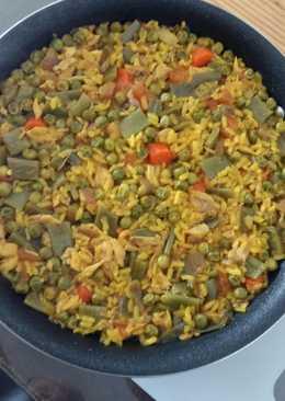 Arroz con Gallina y verduras