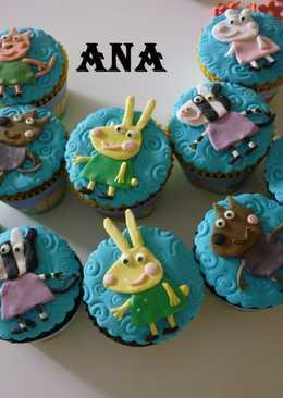 Cupcakes de pepa pig