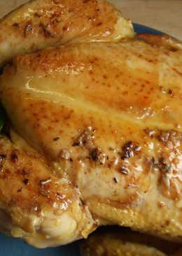Pollo de granja a la olla relleno de castañas