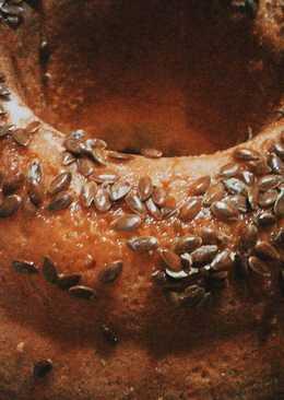 Pan dulce navideño de harina de algarroba y semillas