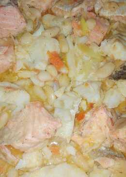 Cazuela de judías con pescado