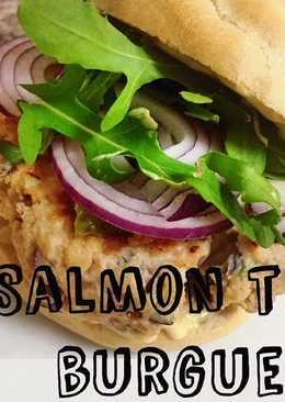 Hamburguesa de salmón fresco