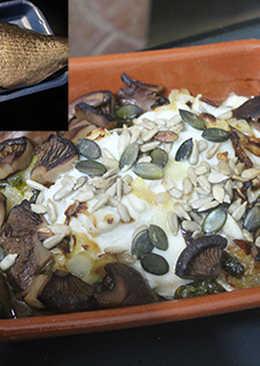 Filete de dorada con robellones y semillas