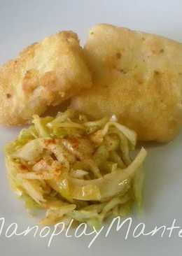 Bacalao frito con ensalada de repollo en gme, f y g y tradicional