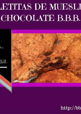Galletitas de muesli con chocolate B.B.B.