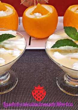 Mousse de melón y naranja