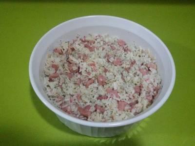 Ensalada de arroz al ajillo con thermomix