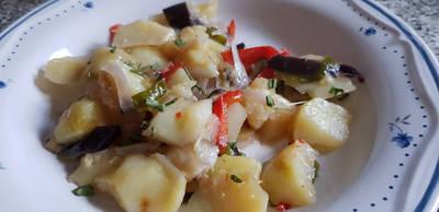 Fritada de Patatas con Hortalizas (al vapor)