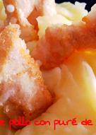 Nuggets de pollo sin gluten y puré de patatas sin lacteos