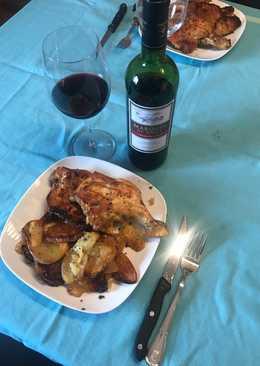 Pollo deshuesado con patatas