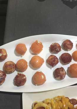 Bombones salados de jamón serrano y salmón🍬🍬