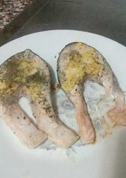 Salmón en papillote al horno