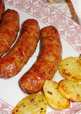 Chorizos criollos con patatas al horno
