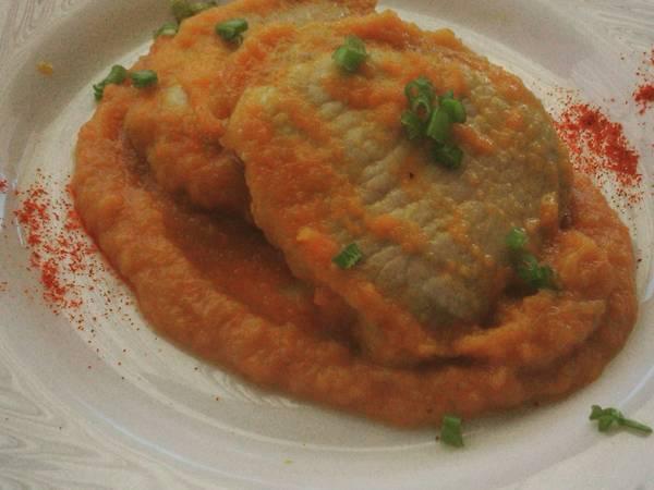 Lomo con salsa de zanahorias