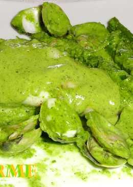 Rape con almejas en salsa verde
