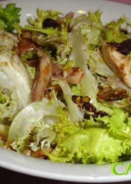 Ensalada de escarola y pollo asado