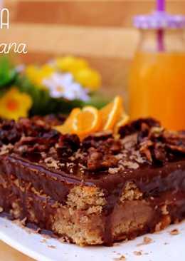 Tarta Valenciana y nueces caramelizadas