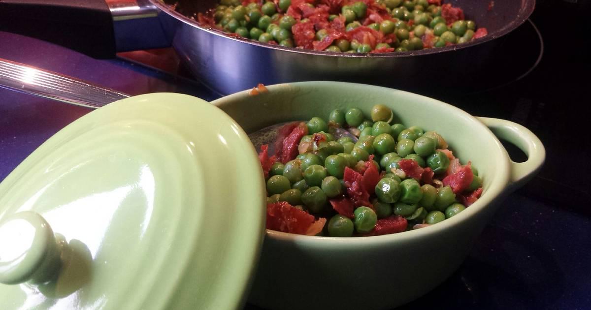 Guisantes con chorizo 113 recetas caseras cookpad for Cocinar guisantes congelados