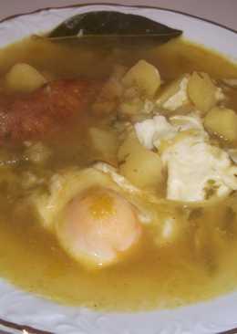 Sopa de patatas 278 recetas caseras cookpad - Patatas en caldo con bacalao ...
