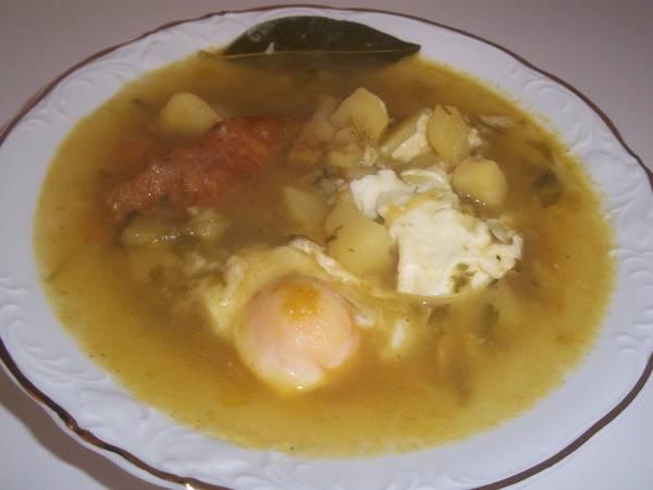 Sopa de patatas con bacalao