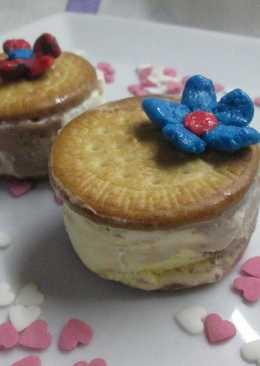 Sandwich helado con galletas María