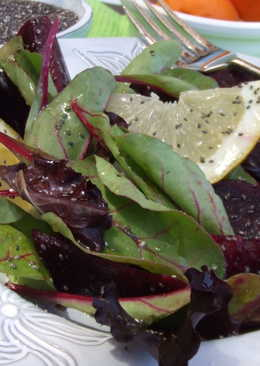 Ensalada roja con semillas de chía
