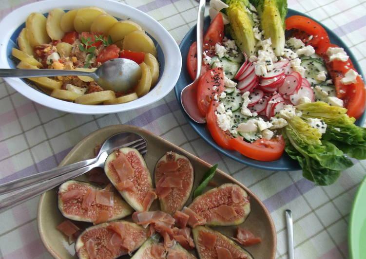 Surtido de ensaladas de verano