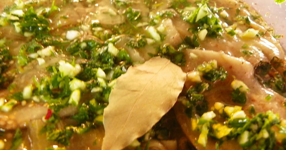 Berenjenas en escabeche light receta de gabyingles cookpad - Calorias boquerones en vinagre ...