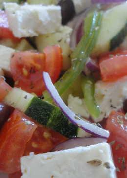 Saláta Horiátiki o ensalada de pueblo