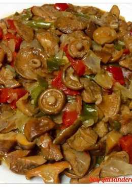 Fritada dé niscalos, cebolla y pimientos