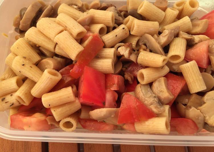Ensalada de pasta integral con champi ones receta de mis for Ensalada de pasta integral