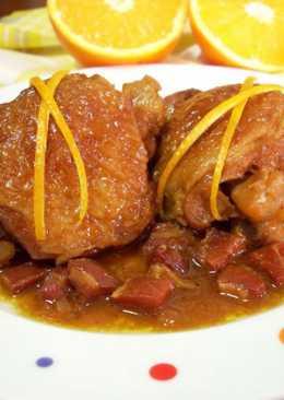 Pollo con naranja y jerez
