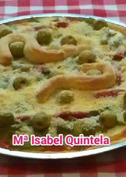 Pizza con verduras de huerta
