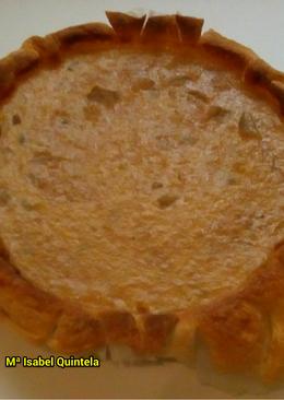 Quiché de cebolla caramelizada con calabacin