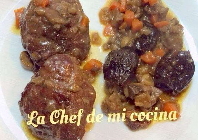 Carrillada de cerdo con salsa de manzana y ciruelas - Tefal multicook pro recetas ...
