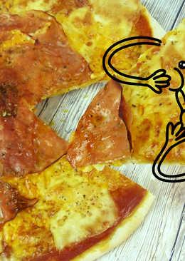 Masa de pizza fina sin levadura y sin reposo muy fácil (aromatizada) + trucos