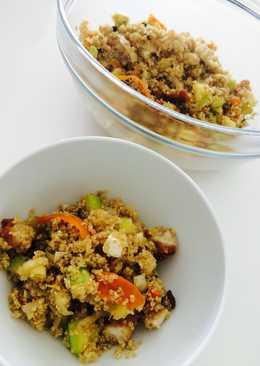 Quinoa con verduras y queso fresco