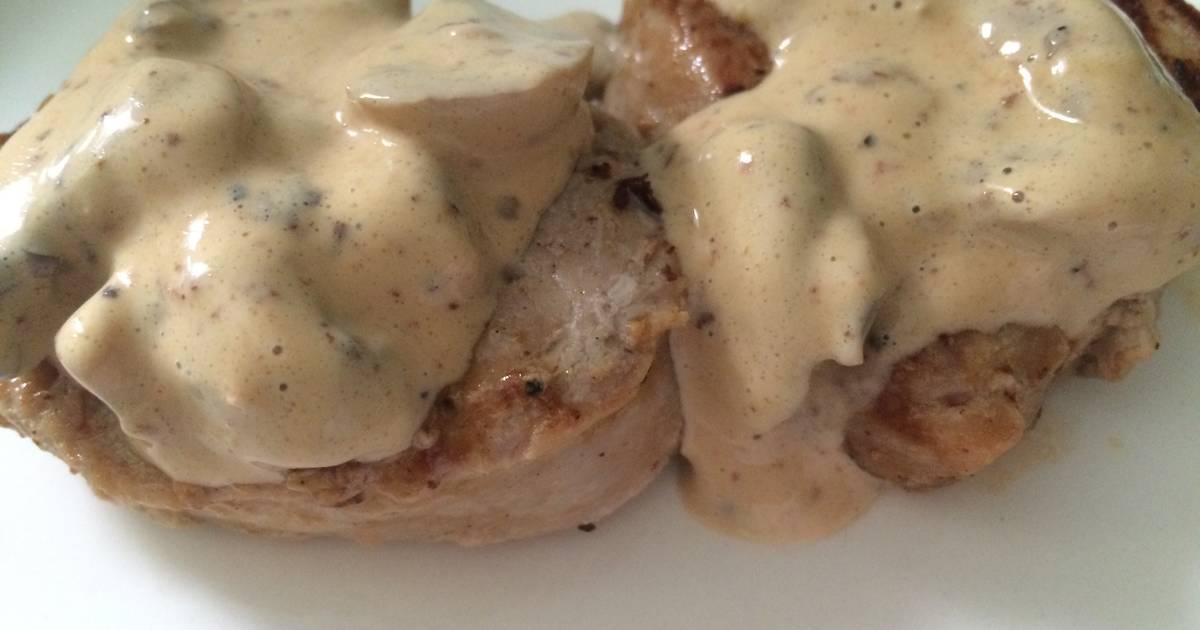 Solomillo de cerdo con salsa de champi ones receta de for Cocinar champinones laminados