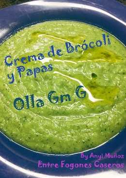 Crema de brócoli y papas en Olla Gm G