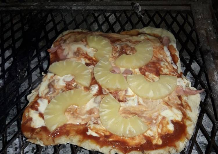 Receta pizza parrilla