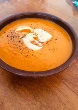 Sopa crema de calabaza (zapallo anco)