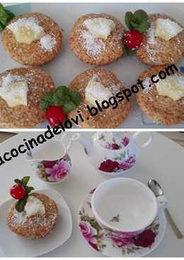 Muffins de piña colada