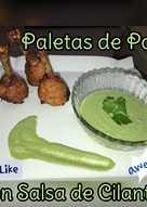 Paletas de Pollo Con Salsa de Cilantro