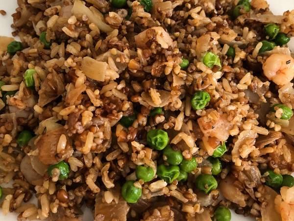 Arroz integral y quinoa