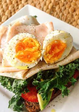 Tostada de Kale para desayuno