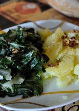 Acelgas con patatas aderezado con pimentón rojo dulce y AOVE