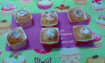 Cupcake de naranja con marshmallows