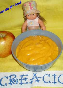 Crema de zanahoria, patata y manzana